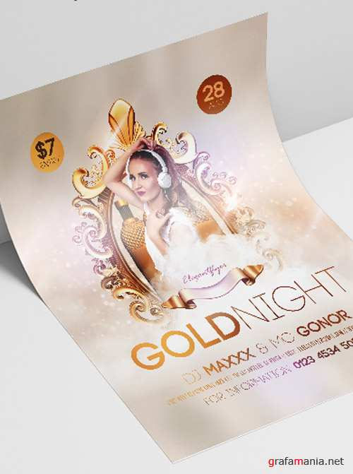 Gold Night V2208 2019 PSD Flyer Template