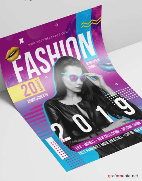 Fashion V2208 2019 Premium PSD Flyer Template