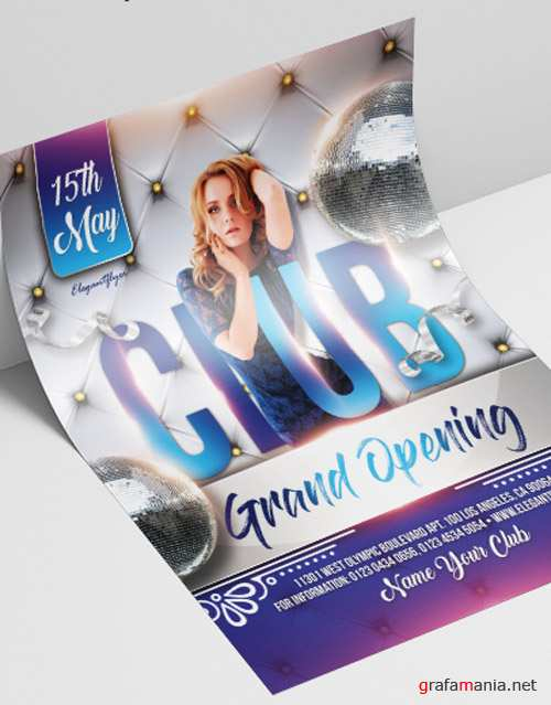 Club Grand Opening V2208 2019 Premium PSD Flyer Template