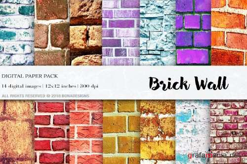 Wall Digital Paper Pack - 4078125