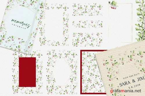 Christmas Watercolor cards collection 02 - 349020