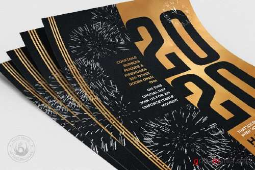 New Year Flyer Template V9 - 4091563