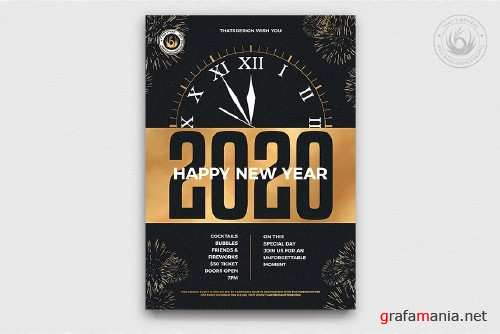 New Year Flyer Template V10 - 4092574