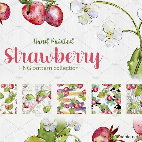 Sweet Watercolor Strawberry PNG - 4085781