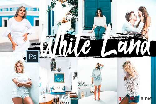 5 White Land Actions, ACR and LUT presets - 347674