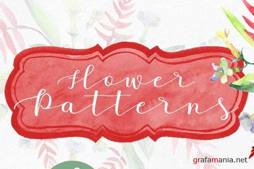 Bouquet and pattern background - 4096193
