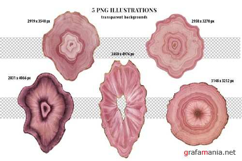 Pink Agate Illustrations & Textures - 4107043