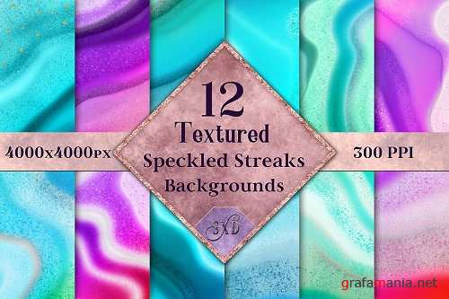 Textured Speckled Streaks Backgrounds - 12 Image Textures - 352596