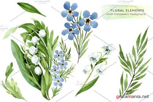 lily of the valley and forget-me-not - 4103898