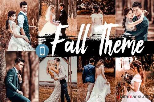 5 Fall Mobile Lightroom Presets - 354594