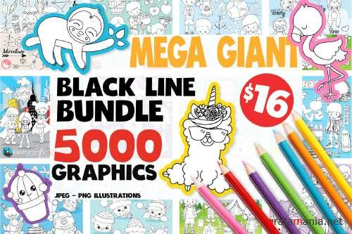 5000 in 1 - Black lines Mega Bundle - 4111864
