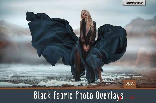 Black Fabric Photo Overlays 4114318