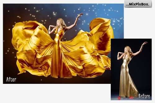 Gold Satin Photo Overlays 4113442