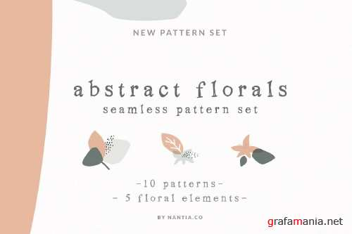 Abstract Floral Seamless Pattern Graphic - 3463559