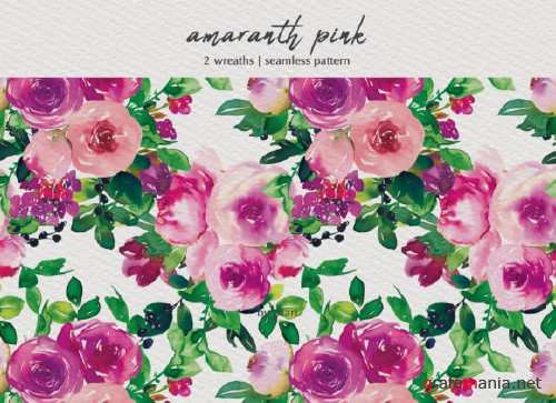 Watercolor Pink Floral Collection