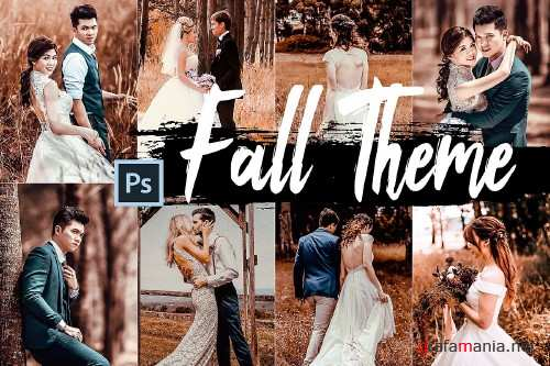 5 Fall Photoshop Actions, ACR and LUT presets - 355434