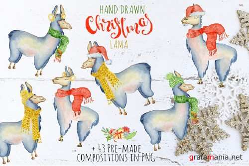 Christmas lama watercolor creator 2 - 2080239