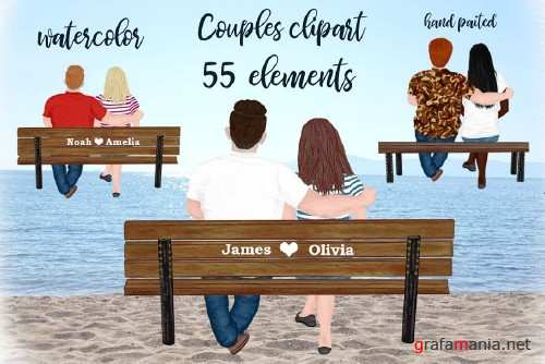 Couple on the bench Custom Couples - 4139969