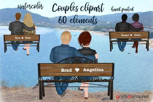 Couple on the bench Custom Couples - 4143265