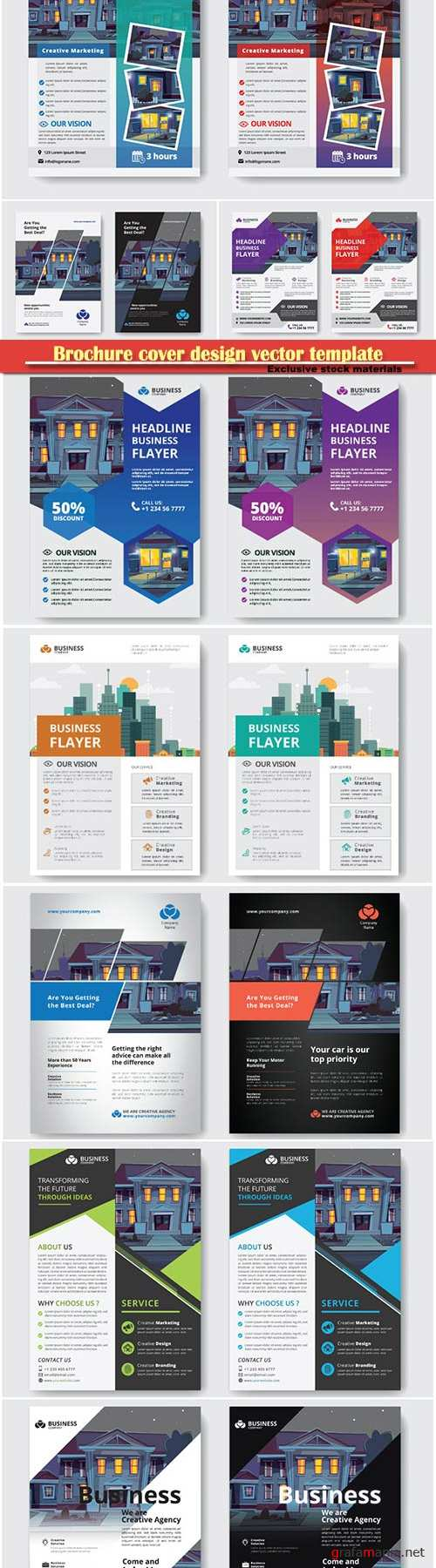 Brochure cover design vector template # 5