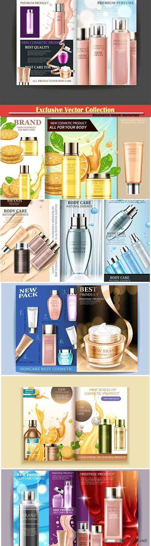 Advertising poster for cosmetic product for catalog
