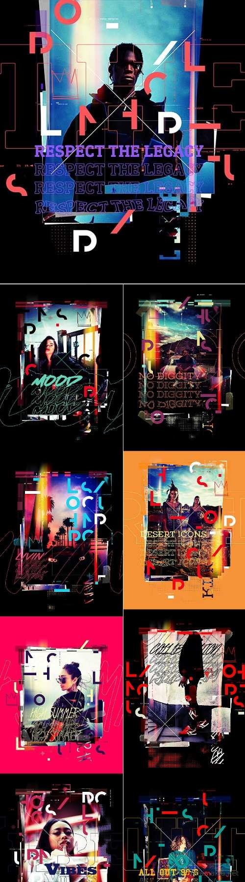 Lomography Typography Poster Photoshop Action - 24518011