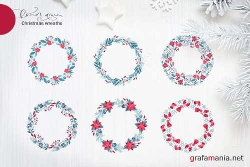 Christmas floral holiday elements 4160243