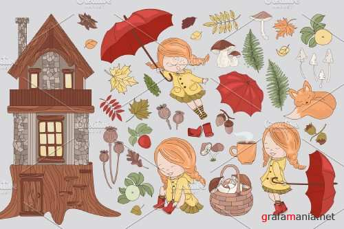 Fall Advanture - Autumn Season Cartoon - 4161778