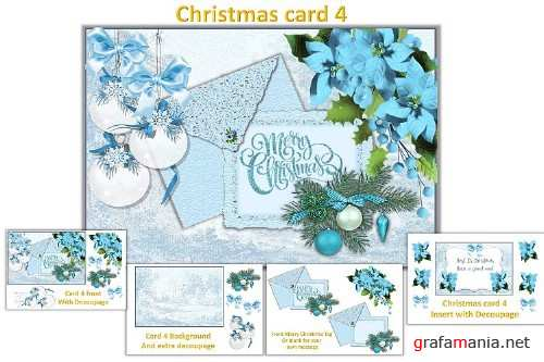 Christmas Card Making Kit with free clipart - 359472