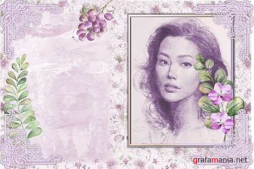 Water colour Lavender Ladies Backgrounds and Clipart - 364218