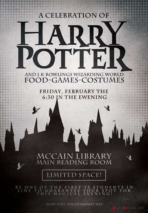Harry potter day - Premium flyer psd template