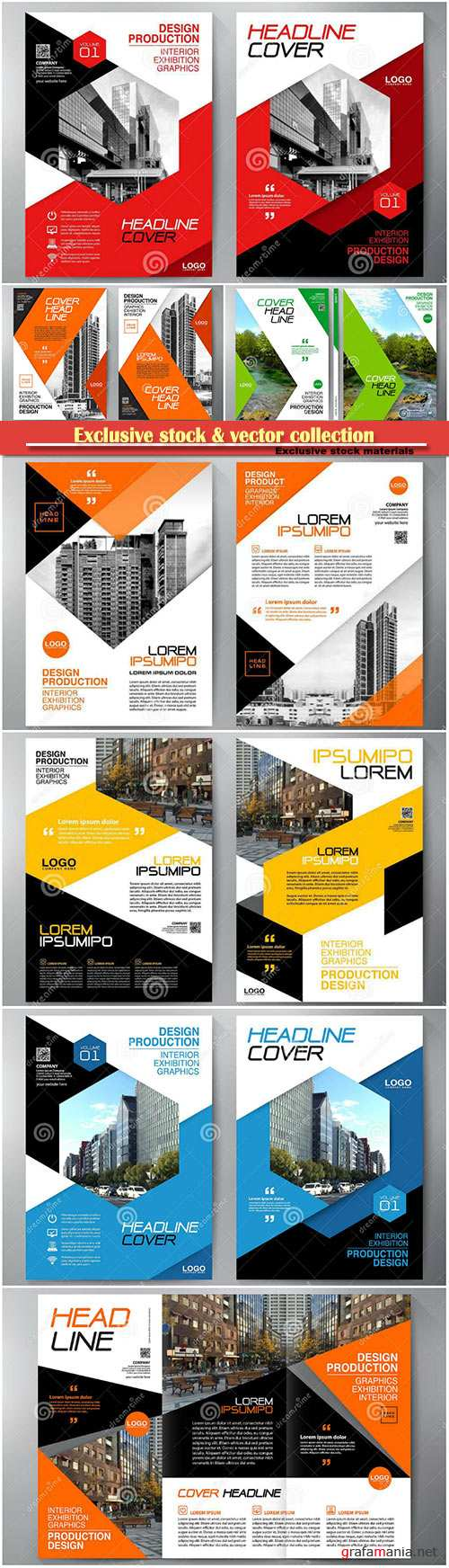 Business brochure, flyer design, leaflets a4 template, cover book and magazine, annual report vector illustration