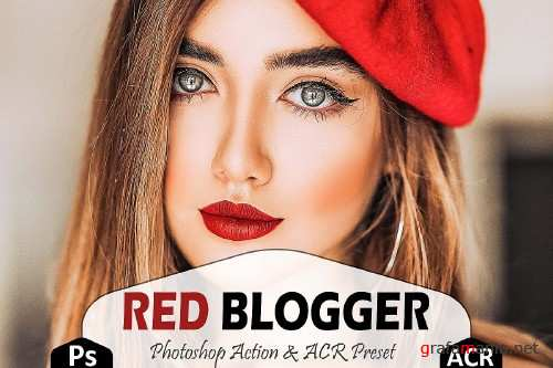 Red Blogger Photoshop Actions And ACR Presets - 362614