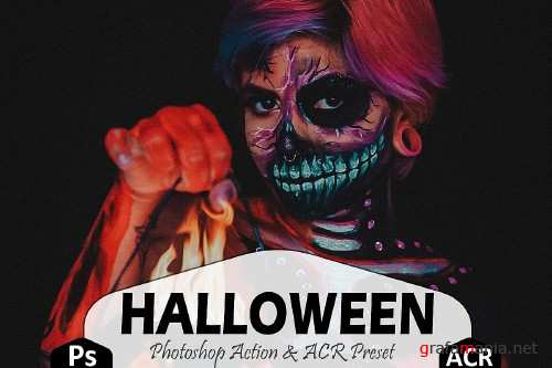 Halloween Photoshop Actions And ACR Presets - 372799