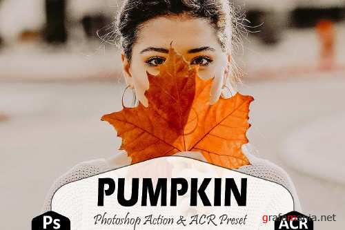 Pumpkin Photoshop Actions And ACR Presets, Fall preset - 370043