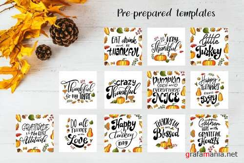 Thanksgiving holiday overlay+clipart - 4257347