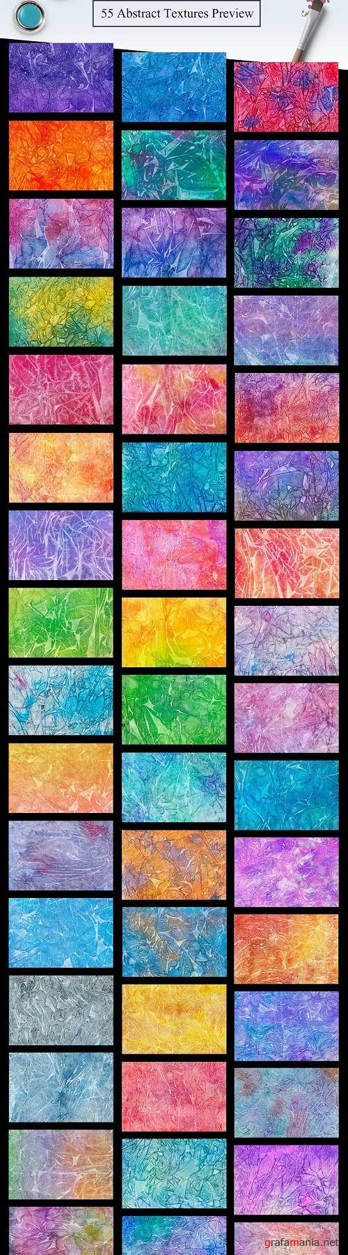 55 Watercolor Abstract Textures - 2199797