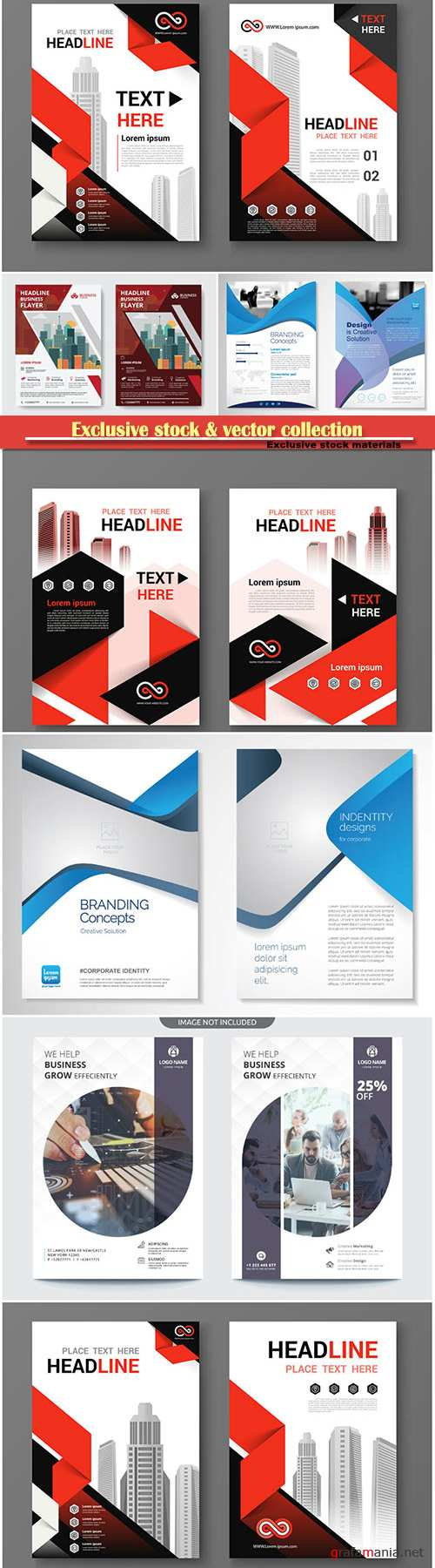 Brochure cover design vector template # 20