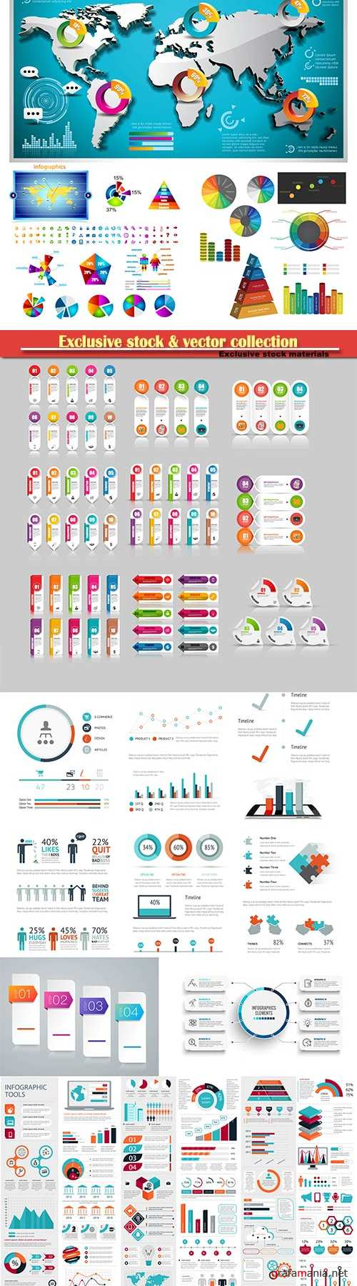 Infographic element for flyer and banner