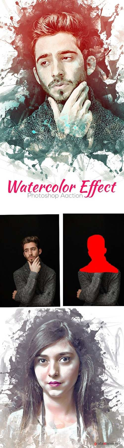 Watercolor Effect Photoshop Action 24740269
