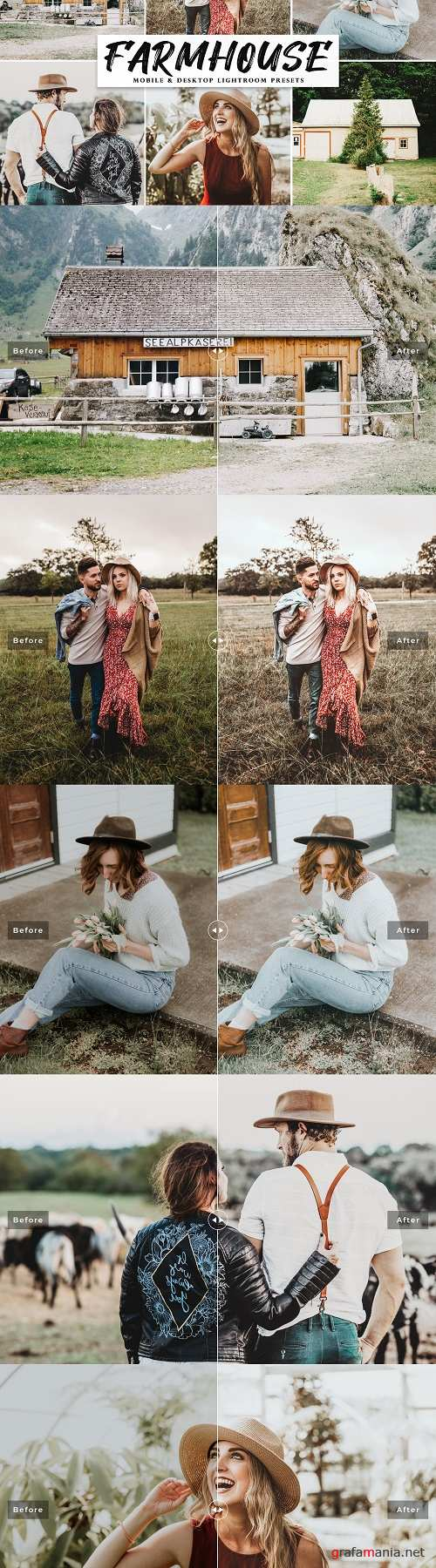 Farmhouse Lightroom Presets Pack - 4226183 - Mobile & Desktop