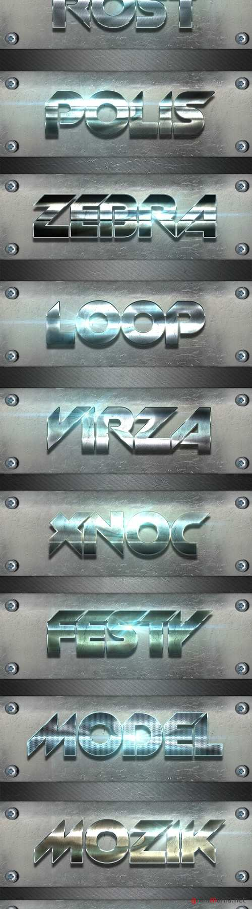 12 Collection Metal Photoshop Text Styles   Text Effects 24727151