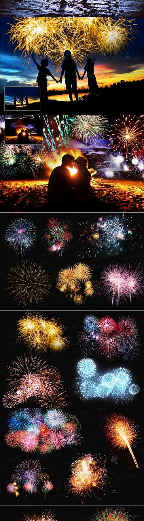 Holiday fireworks overlays christmas png sparkle photoshop  - 374437