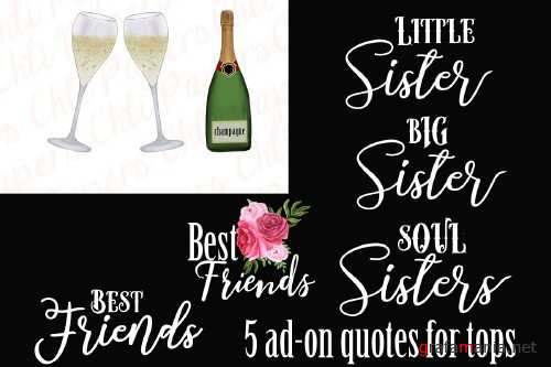 Best Friends Clipart,Custom Besties - 4239262