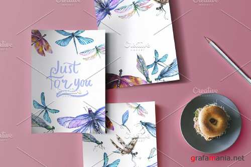Dragonfly Illustration Watercolor - 4271622