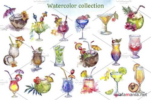 Cocktail Illustrations Watercolor Party 4271614