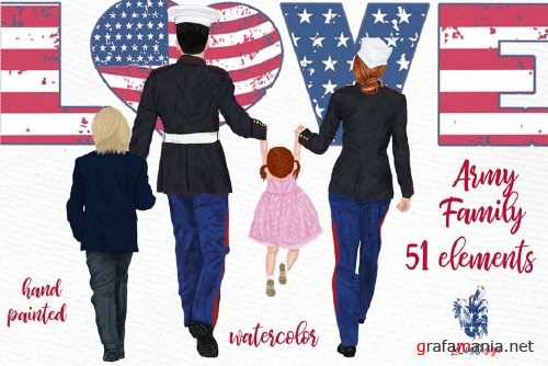 Army Family Clipart Military Couples - 4266834