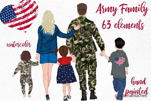 Army Family Clipart Soldier clipart - 4262994