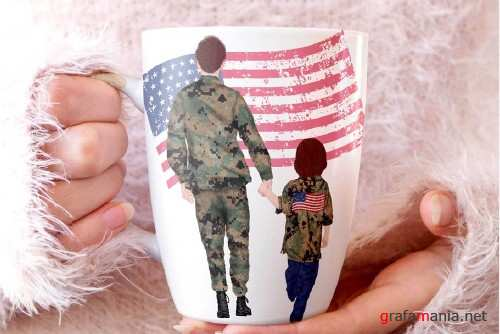 Army Family Clipart Soldier clipart - 4264975