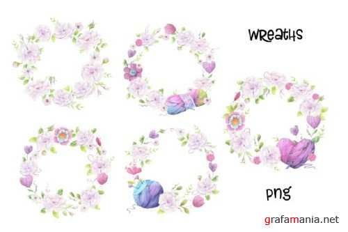 Hand Made – Watercolor Clip Art 4259565